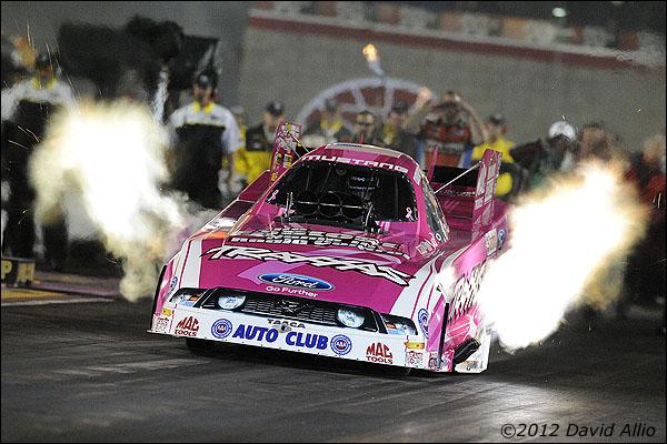 Funny Car Drag Racing October  Pink Car
