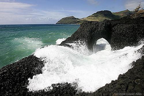 Lava Arch Nawiliwili Bay Lihue Kauai Hawaii Lihu'e Kaua'i Hawai'i