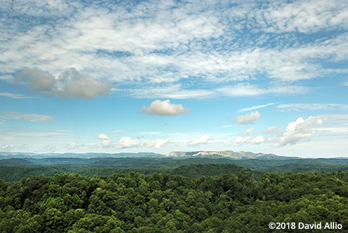 aerial photography Flat Gap Mountain Wise County Virginia
