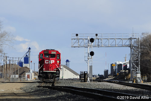 Canadian Pacific Railway locomotive signal Minot North Dakota