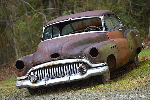 Rust and Chrome 1951 Buick Super Eight antique automobile Otto North Carolina 2020