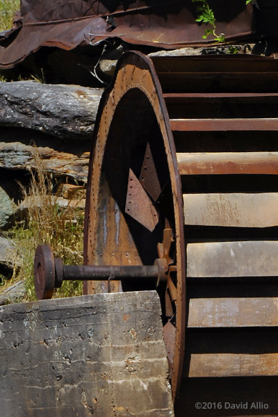 dinged and damaged rusting waterwheel Anderson Mill oldest standing mill North Tyger River Spartanburg County Moore South Carolina Americana Collection