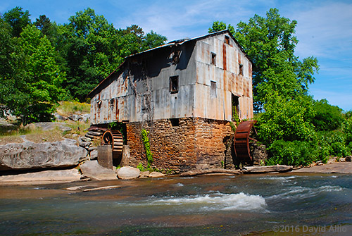 Rusting workings Anderson Mill oldest standing mill North Tyger River Spartanburg County Moore South Carolina Americana Collection