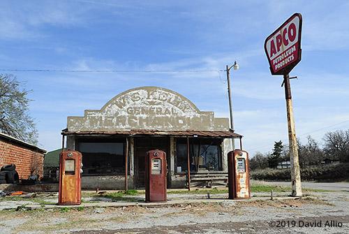 W.S. Kelly General Merchandise Age-value monument Rain Man Caddo County Coger Oklahoma