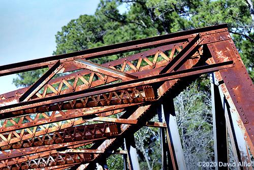 Rusted riveted lattice connections Hillman Bridge Old Ellaville Bridge abandoned US90 Bridge Suwannee River State Park Ellaville Florida Americana Collection