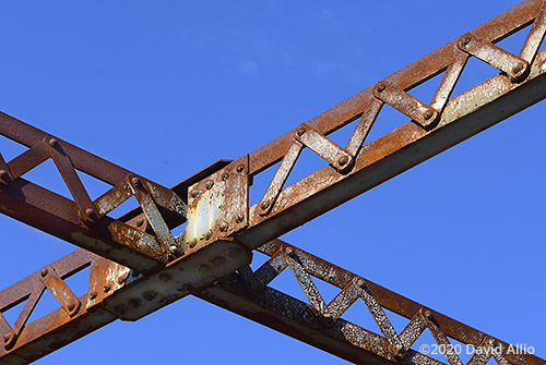 Rust silver paint Hillman Bridge Old Ellaville Bridge abandoned US90 Bridge Suwannee River State Park Ellaville Florida Americana Collection