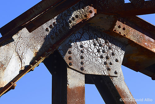 Rust rivets and I-Beams Hillman Bridge Old Ellaville Bridge abandoned US90 Bridge Suwannee River State Park Ellaville Florida Americana Collection