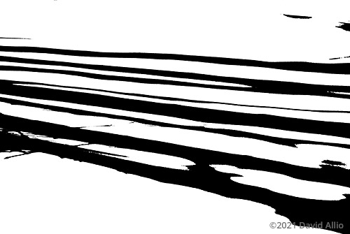 Shadows on Snow stark contrast visual art collection by David Allio